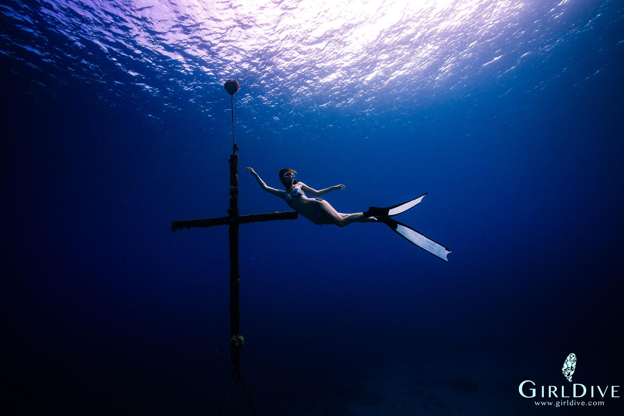 自由潛水,綠島,十字架,旅遊,課程