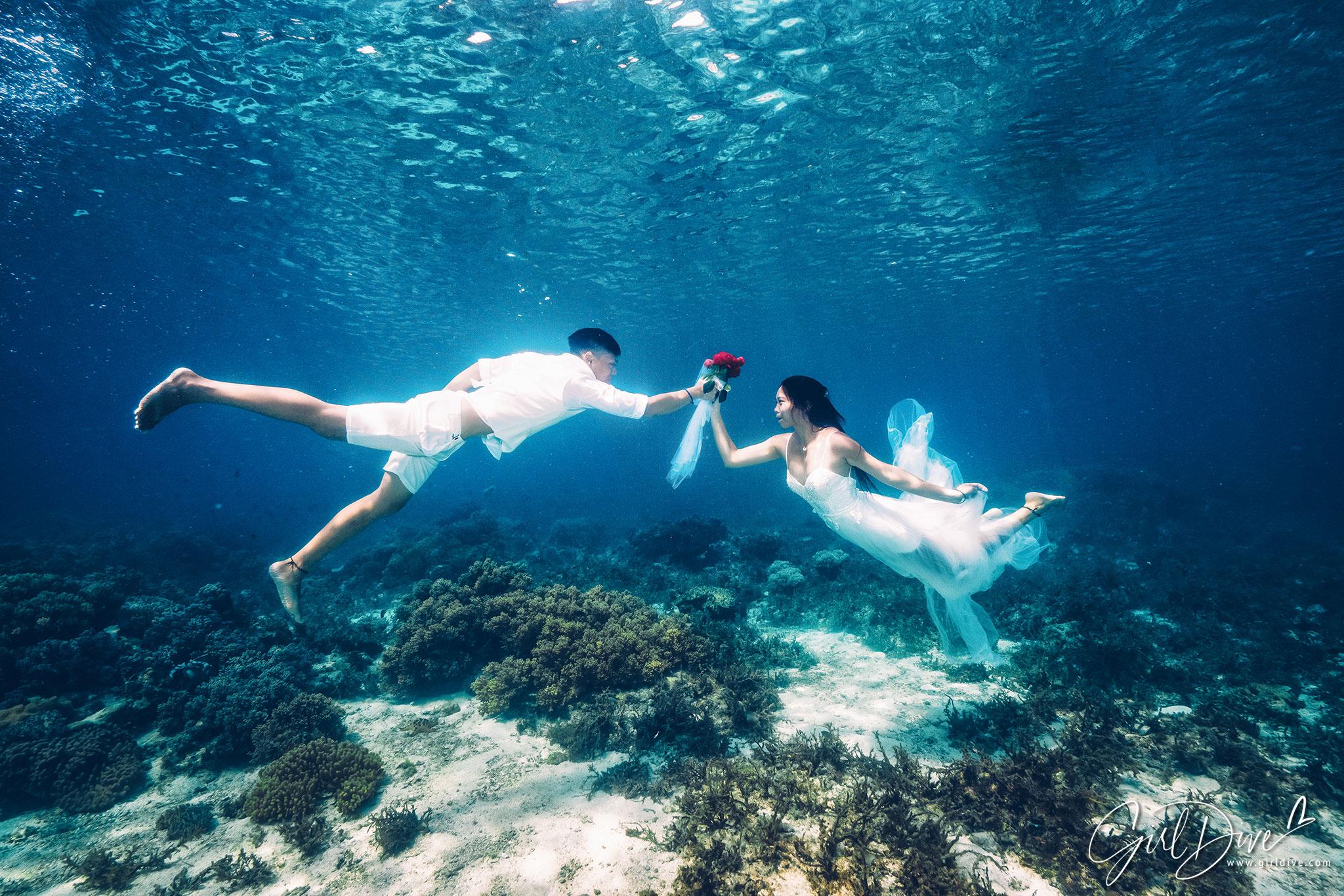 香港美人魚,墾丁,海外婚紗,水中婚紗,海底婚紗,人魚婚紗
