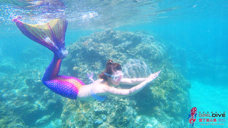 墾丁美人魚 黃巧綸|Girldive 人魚夢13