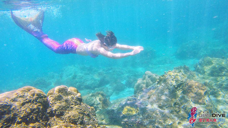 墾丁美人魚 黃巧綸|Girldive 人魚夢14