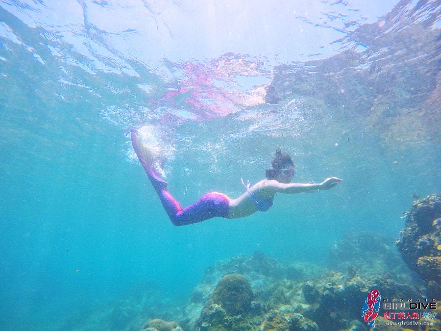 墾丁美人魚 黃巧綸|Girldive 人魚夢8