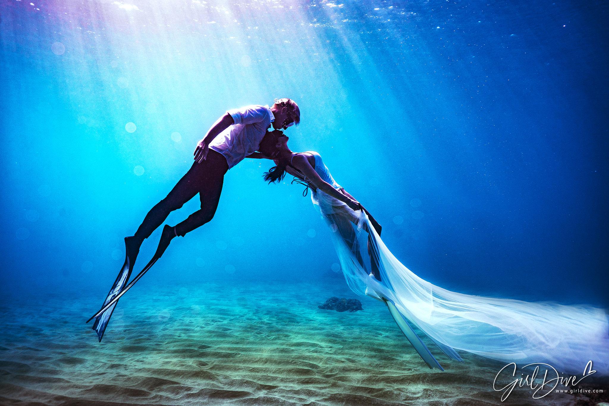 許孟哲,趙孟姿,墾丁美人魚學校,海底婚紗,水中婚紗